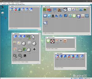 Aspire OS uruchomiony na maszynie wirualnej